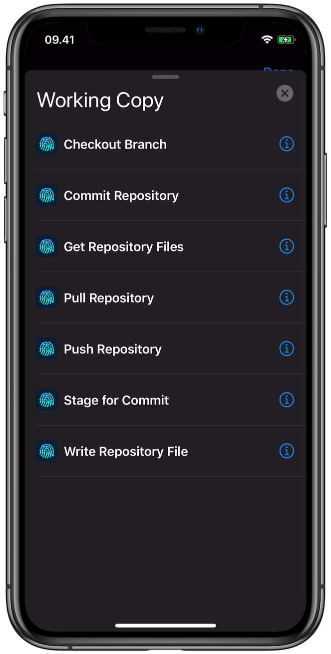 Working Copy Users' guide
